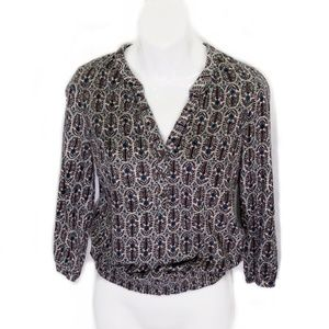 Lucky Brand print blouse top Small
